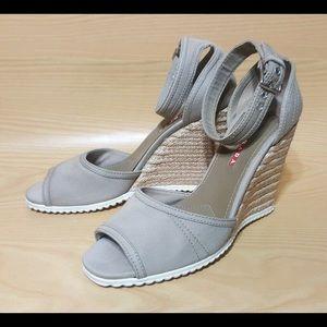 Prada Espadrille Wedge Slingback Sandals Size 10